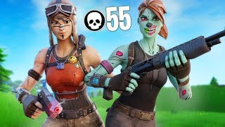 WE BROKE THE FORTNITE DUO KILL RECORD... (55 KILLS)