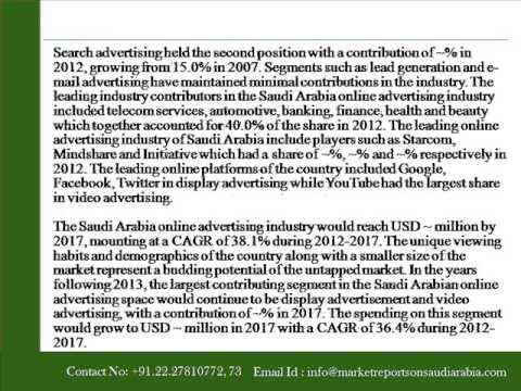 Market Reports on Saudi Arabia Online Advertising Market Outlook