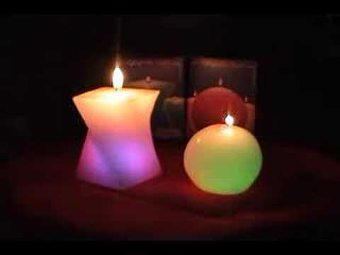 Color Changing Candles - Light em and watch em - Change!