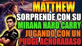 MATTHEW SORPRENDE COMO HARD CARRY | JUEGA CON UN PUDGE ACHORADASO | DOTA 2