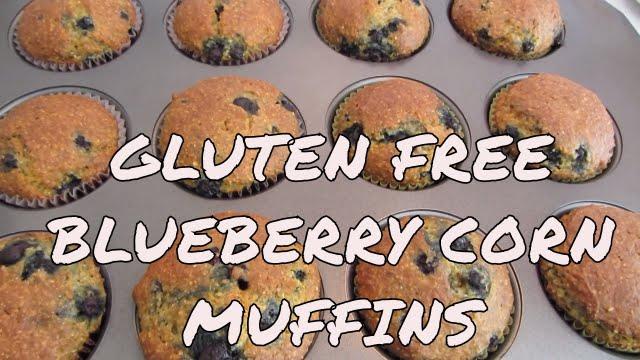 Blueberry Corn Muffins ~ Gluten Free - YouTube