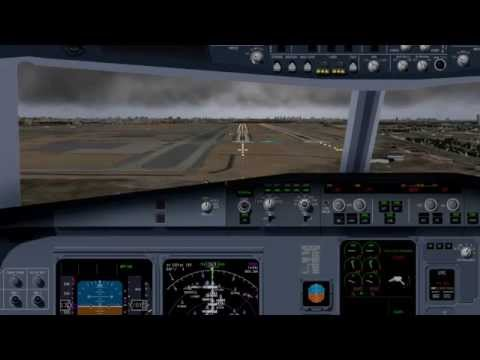 Landing at Los Angeles Intl. Airport, RWY 7L