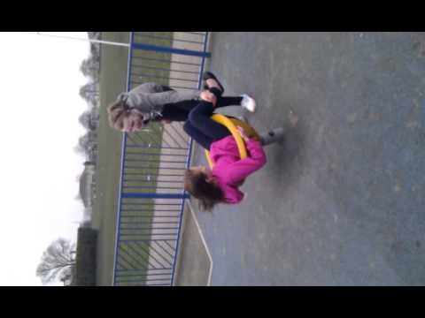 Girls Having Fun In Park N Playing With Horses video