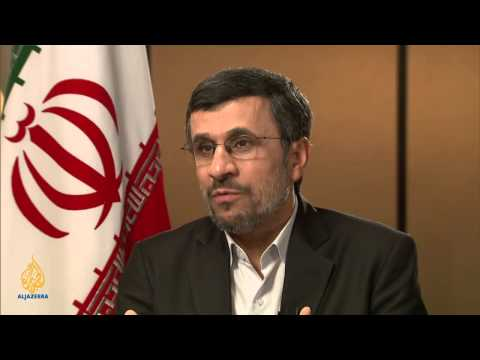 Talk to Al Jazeera - Ahmadinejad: 'You can't rule with war'