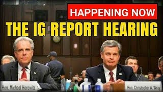 HAPPENING NOW! IG TESTIFYING BEFORE JOINT HOUSE CMTE HEARING ON FBI REPORT
