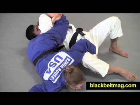 Judo Videos: Sankaku-Jime Demonstrated by Ronda Rousey, MMA Fighter and Olympic Judoka