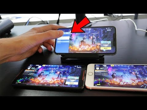 CHEATING in Fortnite Mobile.. Secret way to play with BOTS