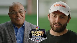Baker Mayfield on his fear of failing, passionate Cleveland fans, new era of young QB's | NBC Sports