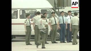 HONG KONG: FINAL CONTINGENT OF CHINESE PLA TROOPS ARRIVE