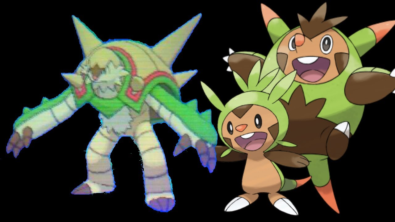 Pokemon X And Y Chespin Evolution Chespin final Evolution