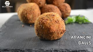 Homemade Arancini Ball Recipe by Schaffen