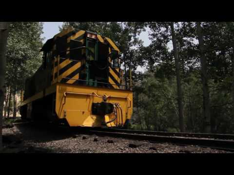 1203 Diesel Rounds the Tracks