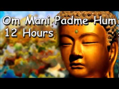 SLEEP MEDITATION - Om mani padme hum mantra 12 hour full night...