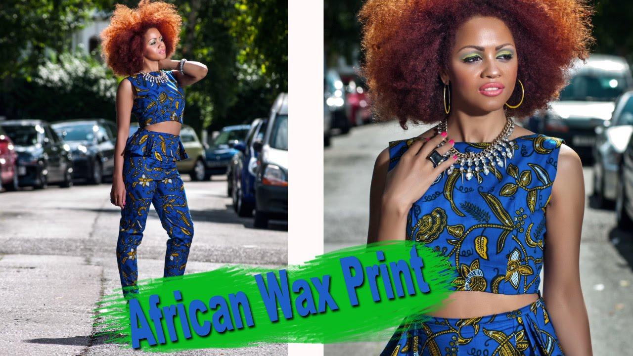 zanjoo african binta wax print peplum trousers amp cropped top suit