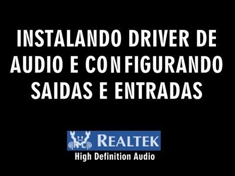 Configurando Saida e Entrada de  Áudio (Plugs) (Inst. Driver Realtek) [HD]