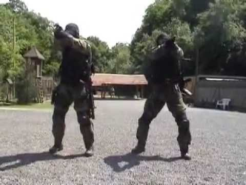 Shooting: Glock 17, HK MP5 - teamwork drills.