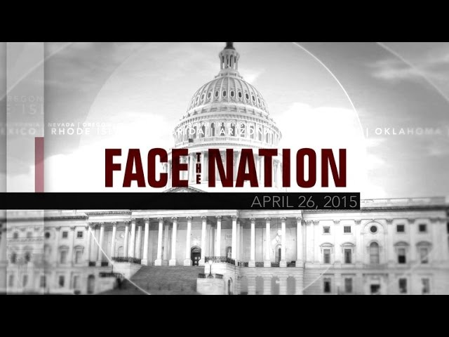 Open: This is Face the Nation, April 26