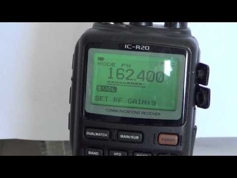 Icom IC R20 Basic Operations - Attenuator and RF Gain controls