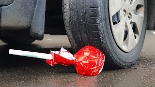 EXPERIMENT: CAR VS BIG CHUPA CHUPS