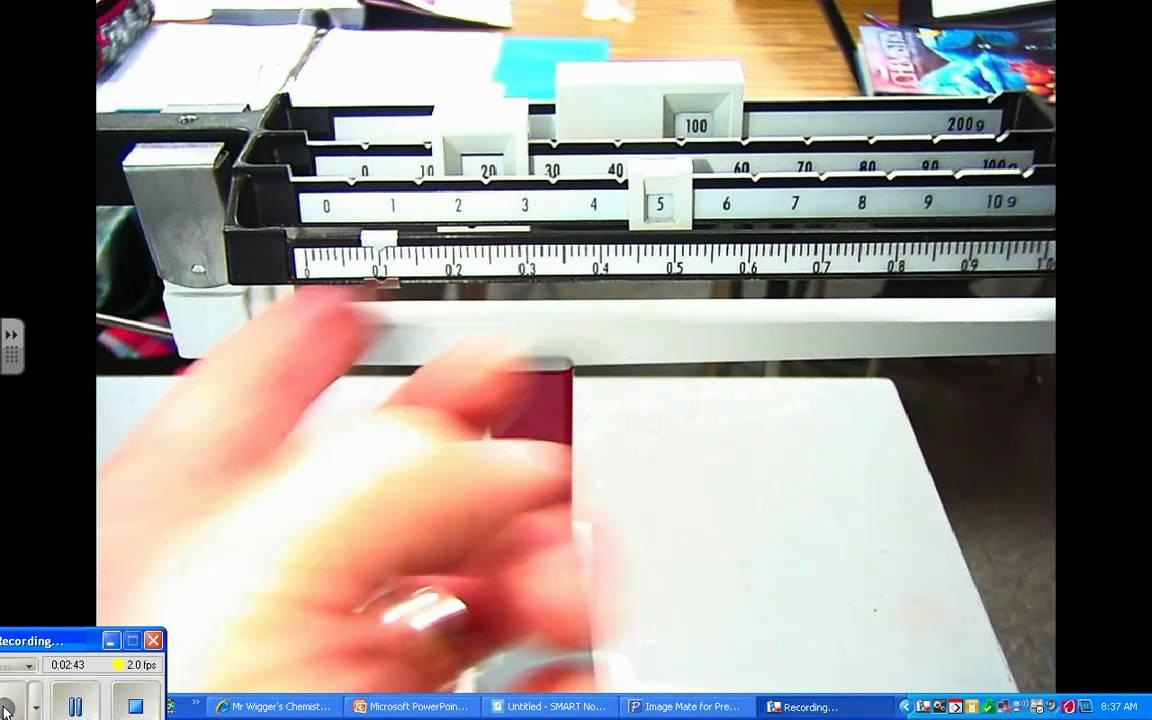 Beam Balance - How To Read - YouTube