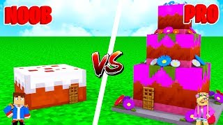 Minecraft NOOB VS PRO : CAKE HOUSE in Minecraft!