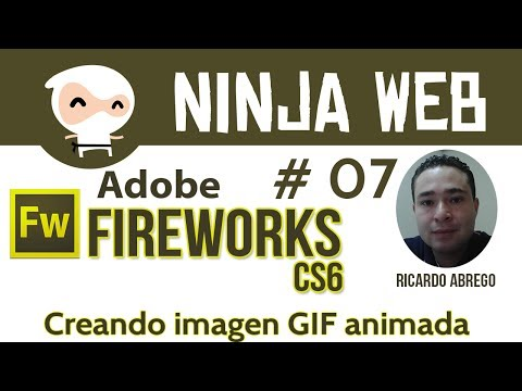 Fireworks CS6 básico - Creando imagen GIF animada - clase 07