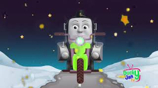 Motorcycle ride with Thomas and Friends Finger Family Nursery Rhymes Song for Kids