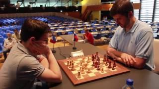 Biel Blitz Final, game 1. MVL-Svidler