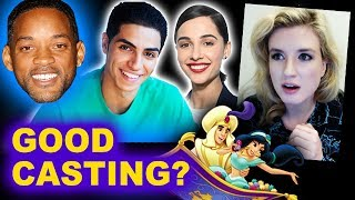 Aladdin Live Action CAST - Mena Massoud, Naomi Scott, Will Smith