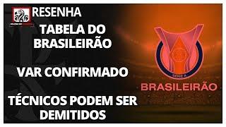 RESENHA: TABELA DO BRASILEIRÃO DIVULGADA | VAR CONFIRMADO EM TODOS OS JOGOS | TÉCNICOS