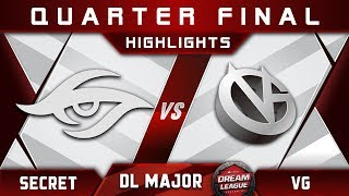 Secret vs VG [EPIC] Stockholm Major DreamLeague Highlights 2019 Dota 2