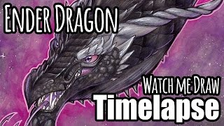 "WATCH ME DRAW! - ""The Ender Dragon"" - Art Timelapse"