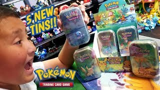 NEW POKEMON CARDS!! OPENING 5 KANTO FRIENDS MINI PUZZLE TINS! ARE THEY WORTH BUYING?