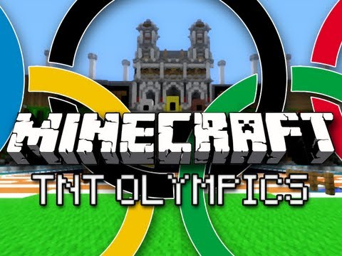Minecraft: TNT Olympics w/ CaptainSparklez & Friends Part 1 - Hurdles, Long Jump, and Equestrian