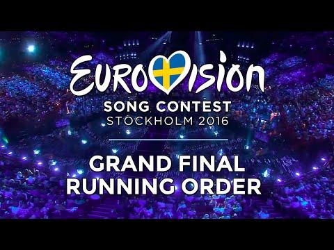 Eurovision 2016 - Grand Final Running Order