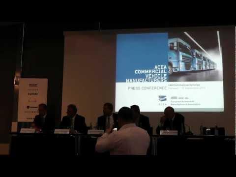 ACEA Press Conference IAA Nutzfahrzeuge Hanover 2012