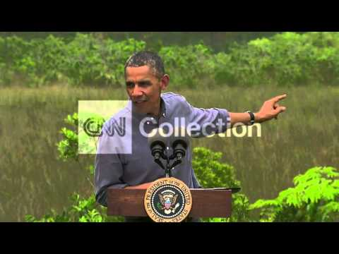 OBAMA: CLIMATE CHANGE SPEECH (RAW)