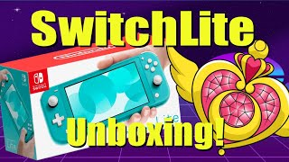 Turquoise Nintendo Switch Lite UNBOXING With The Lovely Laura - OutlawBitsGaming 2019