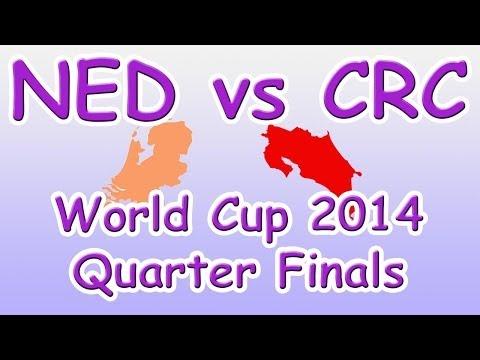 World Cup Quarter Finals 2014 Dates for Netherlands verses Costa Rica (NEDvsCRC)