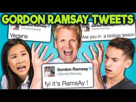 TEENS READ GORDON RAMSAY'S SAVAGE TWEETS!!! (React)