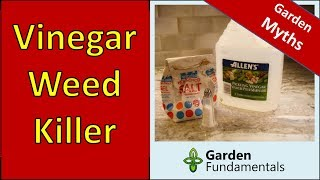 Vinegar Weed Killer - Does It Work - compare Roundup, vinegar and salt