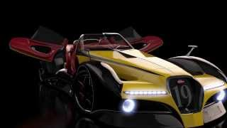 Bugatti 12.4 Atlantique Grand Sport Concept Car by Alan Guerzoni