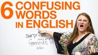 6 Confusing Words: fun & funny, famous & popular, surprise & shock