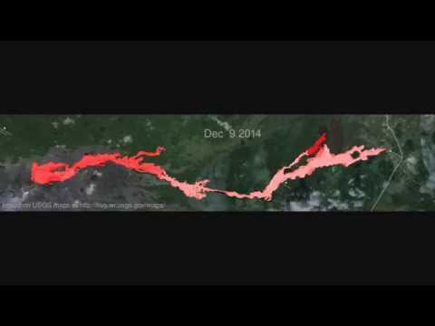 Animation of USGS maps of the June 27th lava flow (updated Dec 31, 2014)