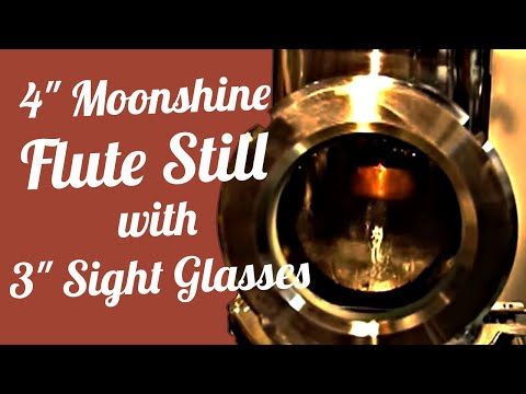 Mile Hi 4 Moonshine Still Flute with 3 Sight glasses