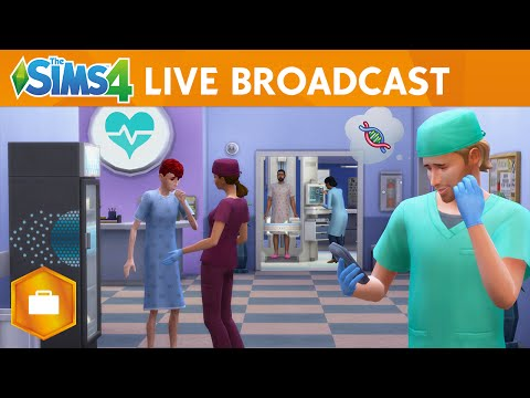 The Sims 4 Get to Work: Live Broadcast Gameplay