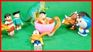 Đồ chơi Doremon hoạt hình #5 -Chaien xui xẻo gặp con rắn trong trái cây biến hình