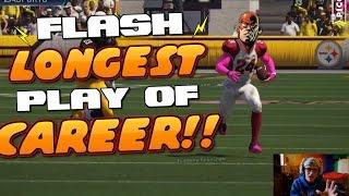 FLASH GOES YARD FOR HIS LONGEST TD EVER!! Madden 16 Superhero Challenge