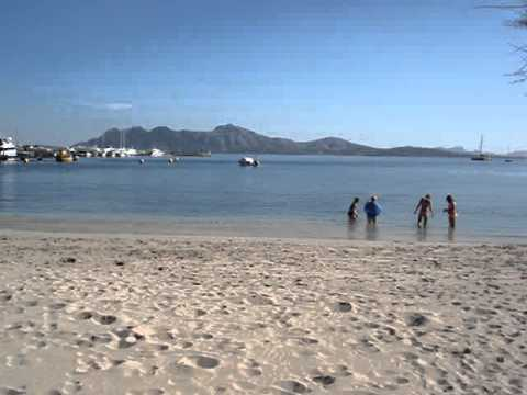 On The Beach In Puerto Pollensa Near The Harbour Youtube