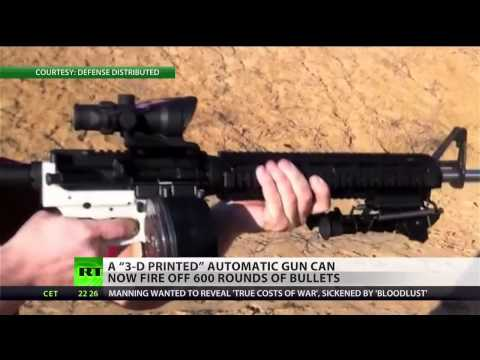 Downloadable 3-D printed gun capable of firing 600 rounds
